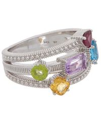 Judith Ripka Classic Silver 1.98 Ct. Tw. Gemstone Ring
