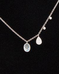 Meira T - 14k 1.05 Ct. Tw. Diamond & Blue Topaz Necklace - Lyst