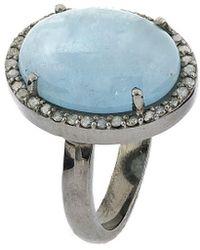 Adornia - Fine Jewellery Silver Aqamarine Ring - Lyst