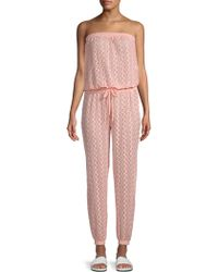 Melissa Odabash - Stella Embroidered Cover-up Jumpsuit - Lyst