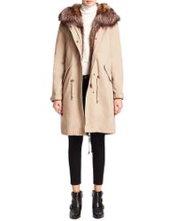 Pure Navy - Fox Fur-trimmed Parka - Lyst