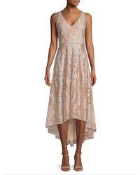 Belle By Badgley Mischka - Hi-lo Embroidery Dress - Lyst