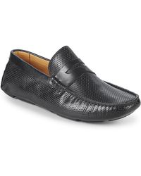 Saks Fifth Avenue - Perforated Leather Penny Loafers - Lyst