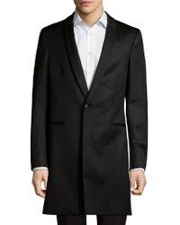 BOSS - Shawl Collar Wool Long Coat - Lyst