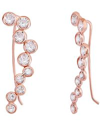 Gabi Rielle - 20k Rose Gold Over Silver Cz Ear Climbers - Lyst
