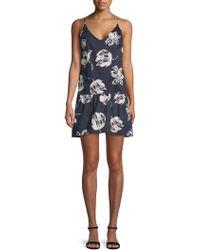 Paper Crown - Bette Floral Mini Dress - Lyst