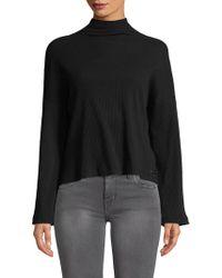 Betsey Johnson - Chunky Rib Bell Sleeve Sweater - Lyst