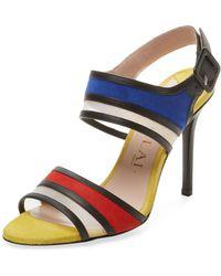 Aperlai - Specchio Leather & Mesh Sandal - Lyst
