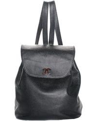 9b66c844f8fd86 Chanel - Black Caviar Leather Cc Backpack - Lyst