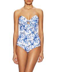 bf0ad3ce38 Lilliput   Felix - Iris Bandeau One Piece Swimsuit - Lyst
