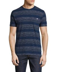 Knowledge Cotton Apparel - Striped Cotton T-shirt - Lyst