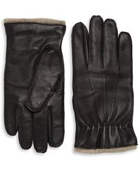 Saks Fifth Avenue - Leather Cashmere Gloves - Lyst