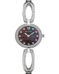 Bulova - Women's Stainless Steel Watch - Lyst