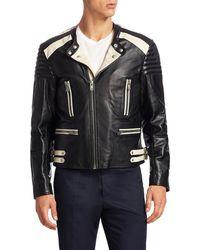 Maison Margiela - Leather Biker Jacket - Lyst