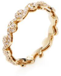 Nephora - 14k Yellow Gold & 0.50 Total Ct. Diamond Scroll Ring - Lyst