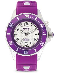 Kyboe - Power Purple Silicone & Stainless Steel Strap Watch/40mm - Lyst