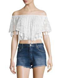 Kas - Ondra Lace Embroidered Blouse - Lyst