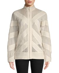 Céline - Ribbed Full-zip Jacket - Lyst