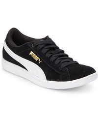 PUMA - Vikky Suede Lace-up Trainers - Lyst