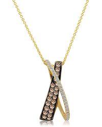 Le Vian - Chocolatier Gladiator Diamond & 14k Yellow Gold Elegant Pendant Necklace - Lyst
