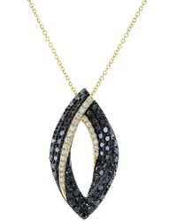 Effy - Caviar 14k Yellow Gold Black Diamond Pendant Necklace - Lyst