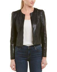 Rebecca Taylor - Crackle Leather Jacket - Lyst