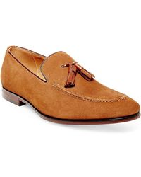 Steve Madden - Nubuck Leather Loafers - Lyst