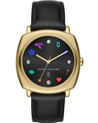 Marc Jacobs - Mandy Gold-tone & Leather Watch, 34mm - Lyst