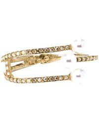 Oscar de la Renta - Pearl & Gold Bracelet - Lyst