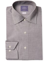 Near North - Solid Flannel Dress Shirt - Lyst