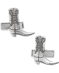 Ox and Bull Trading Co. - Sterling Silver Boot Cufflinks - Lyst