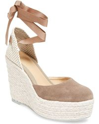 Manebí - Leather High Heel Wedge - Lyst