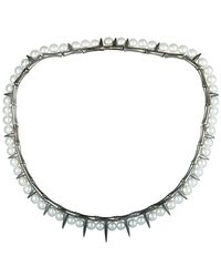 Stephen Webster - Silver & Rhodium Pearl Necklace - Lyst