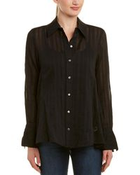 6ea81789acabe Madewell Silk Wrap Top In Star Scatter in Black - Lyst