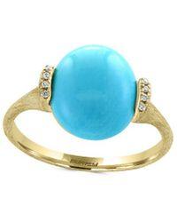 Effy - Fine Jewellery 14k 3.33 Ct. Tw. Diamond & Turquoise Ring - Lyst