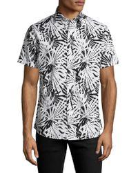 Slate & Stone - Palm B&w Sportshirt - Lyst