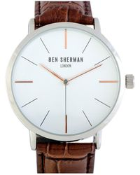 Ben Sherman Men's Leather Watch - Metallic