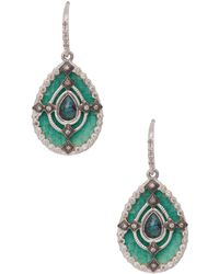 Armenta - Sterling Silver Mosaic Pear-cut Drop Earrings - Lyst