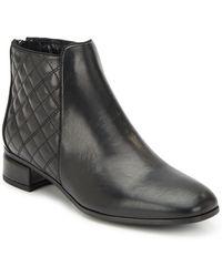Aquatalia - Laurel Leather Ankle Boots - Lyst