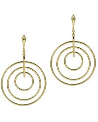 Argento Vivo - 18k Over Silver Cz Multi Ring Drop Earrings - Lyst