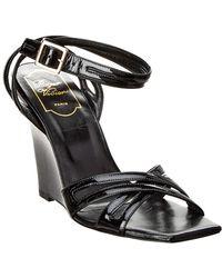 Roger Vivier - Patent Ankle Strap Wedge Sandal - Lyst