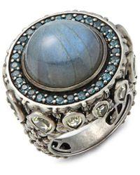 Stephen Dweck - Amethyst, Garnet, 18k Gold & Sterling Silver Ring - Lyst