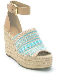 Marc Fisher - Adalyn Espadrille Platform Wedge Sandals - Lyst