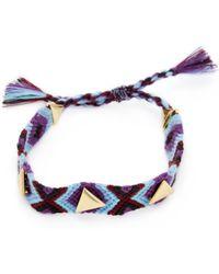 Rebecca Minkoff - Triangle Stud Friendship Bracelet - Lyst