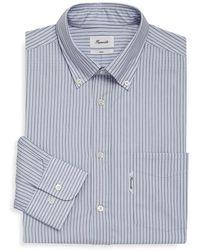 Façonnable - Stripe Buttoned Cotton Dress Shirt - Lyst