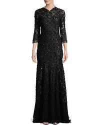 Jenny Packham Embellished Open-back Gown