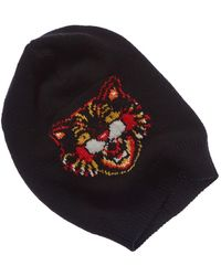 58c6ba2cb518e Gucci Angry Cat-embroidered Baseball Cap in Black for Men - Lyst
