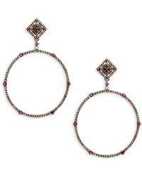 Bavna - Diamond & Sterling Silver Earrings - Lyst