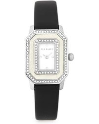 Ted Baker - Bliss Glitz Stainless Steel And Leather Strap Watch - Lyst