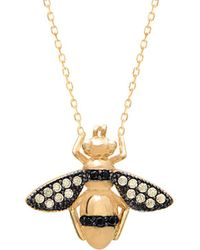 Gabi Rielle - 22k Over Silver Cz Bee Necklace - Lyst